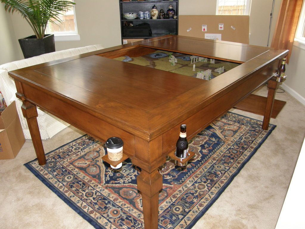 Geek Chic Gaming Tables...Question to Carpenters.. Table