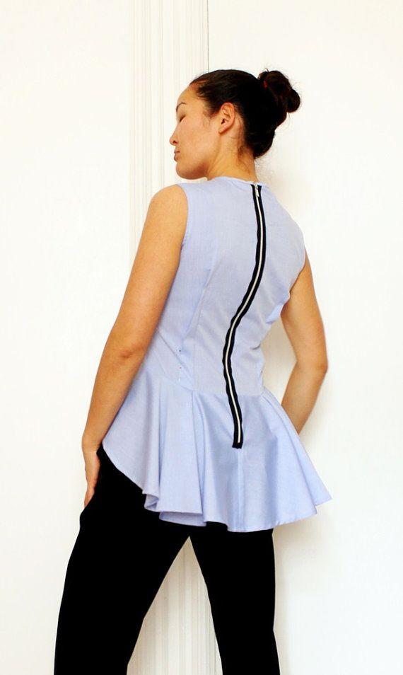 Pattern top blouse pdf ebook MADRID by OkiStyle on Etsy | šití ...