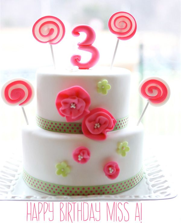 Happy 3rd Birthday To My Niece Cake Image From Hostess With The