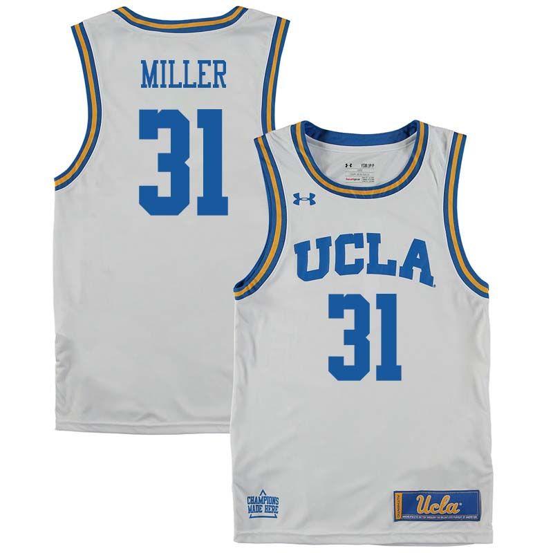 Men  31 Reggie Miller UCLA Bruins College Basketball Jerseys Sale-White 9ee76457b