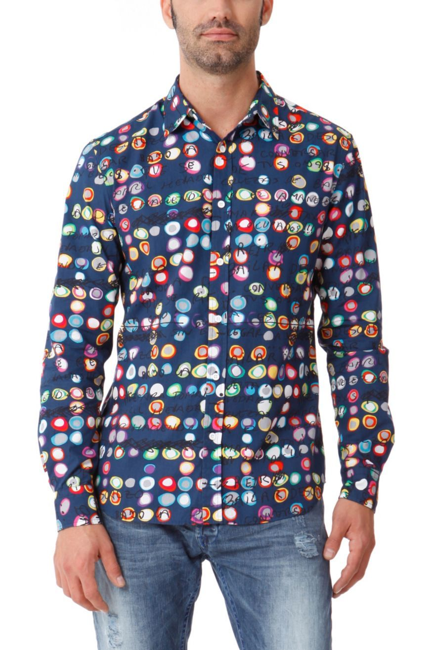 Desigual Mens Shirt Manolos Way 41c1272 Fun Fashion Canada