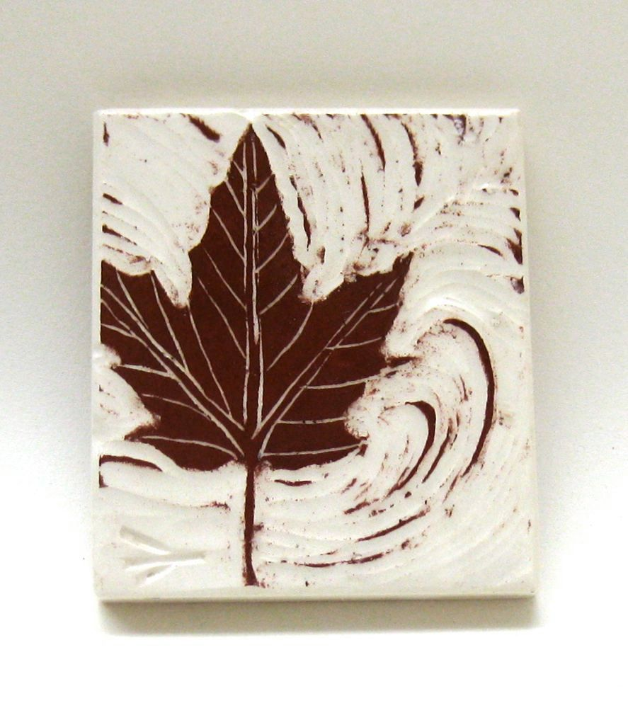 Tiny Red Maple Leaf Ceramic Wall Tile Ceramics Ceramic Wall Tiles Wall Tiles Tiles