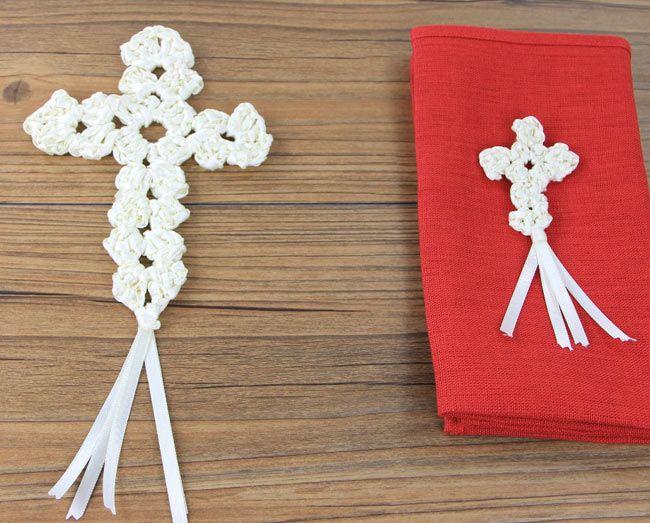 Kostenlose Anleitung Kommunion Kreuz Häkeln Häkeln Anleitungen