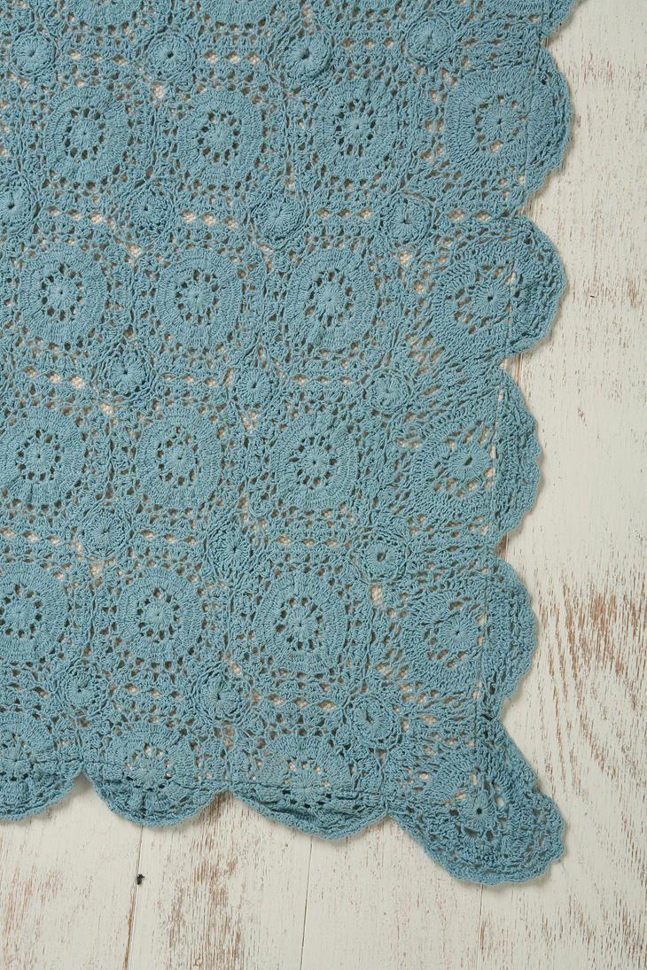3x5 Crochet Top Rug Teal Rugs Crochet Crochet Top