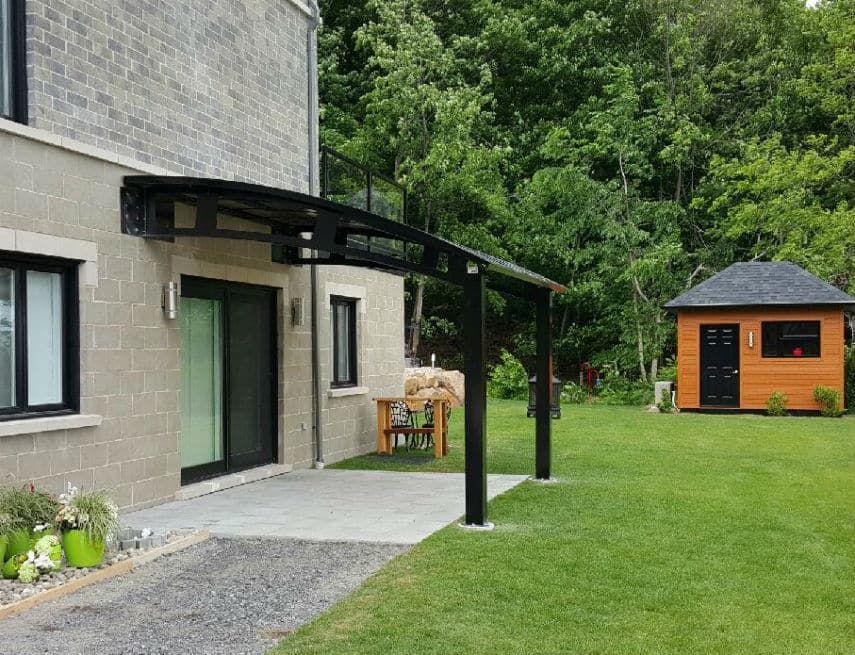 auvent de balcon groupe somac maisons pinterest house and barn. Black Bedroom Furniture Sets. Home Design Ideas