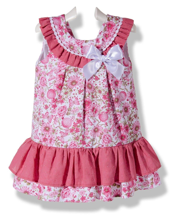 Pink dress baby  Vestido flores de Abril rosa  Girls dresses Babies and Girls