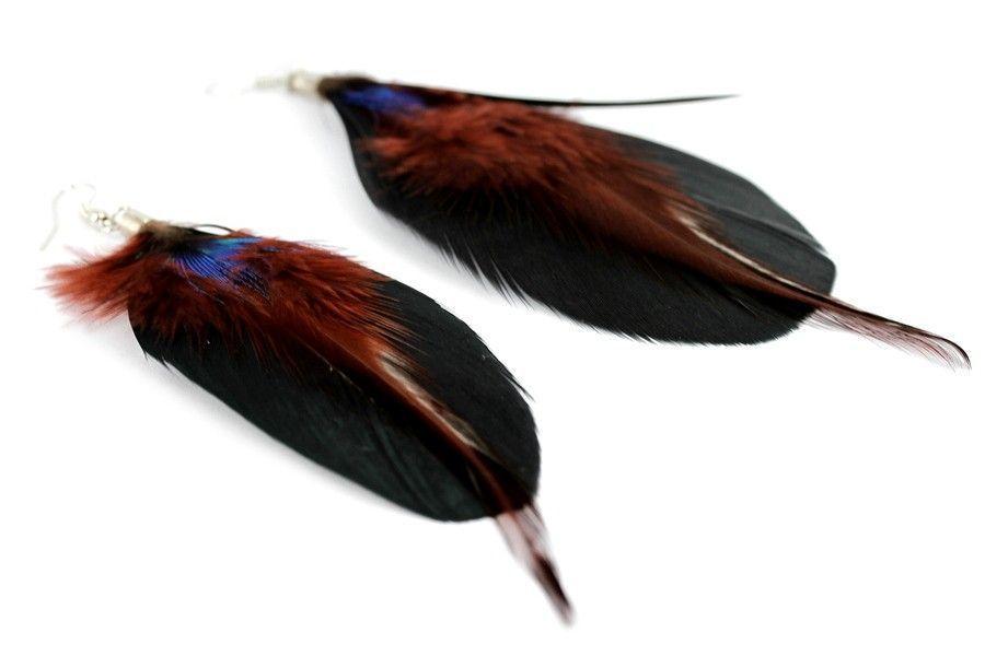 """""""Boucles d'oreilles plumes Orientales""""-Boucles d'oreilles orientales"""