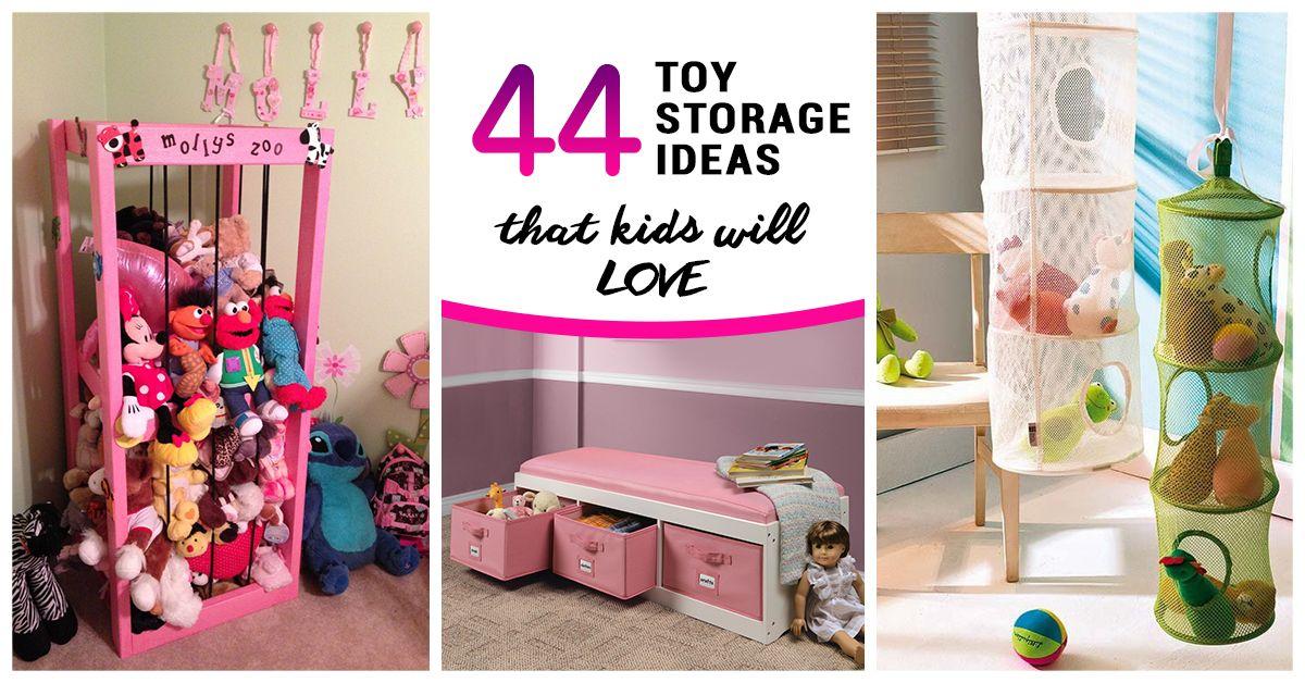 44 Best Toy Storage Ideas That Kids Will Love Toy Rooms Living Room Toy Storage Kids Toy Organization