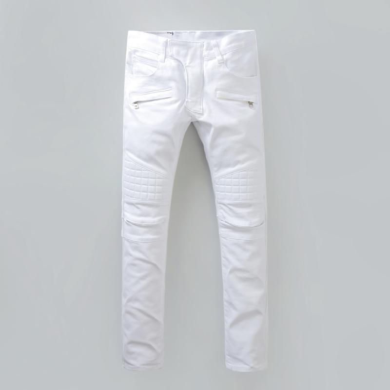 Plus 40 Size New Luxury Balmain Jeans Men Brand Designer Denim Skinny Jeans  Fashion White Jeans Men Robin Jeans 07df1f6cc92e