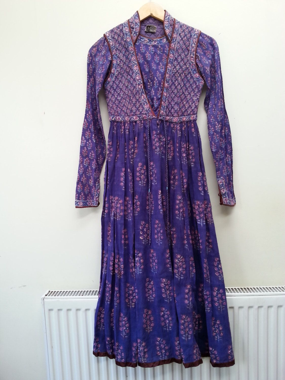 Anokhi Indian Cotton gauze Dress Gypsy India Festival dress Folk ...