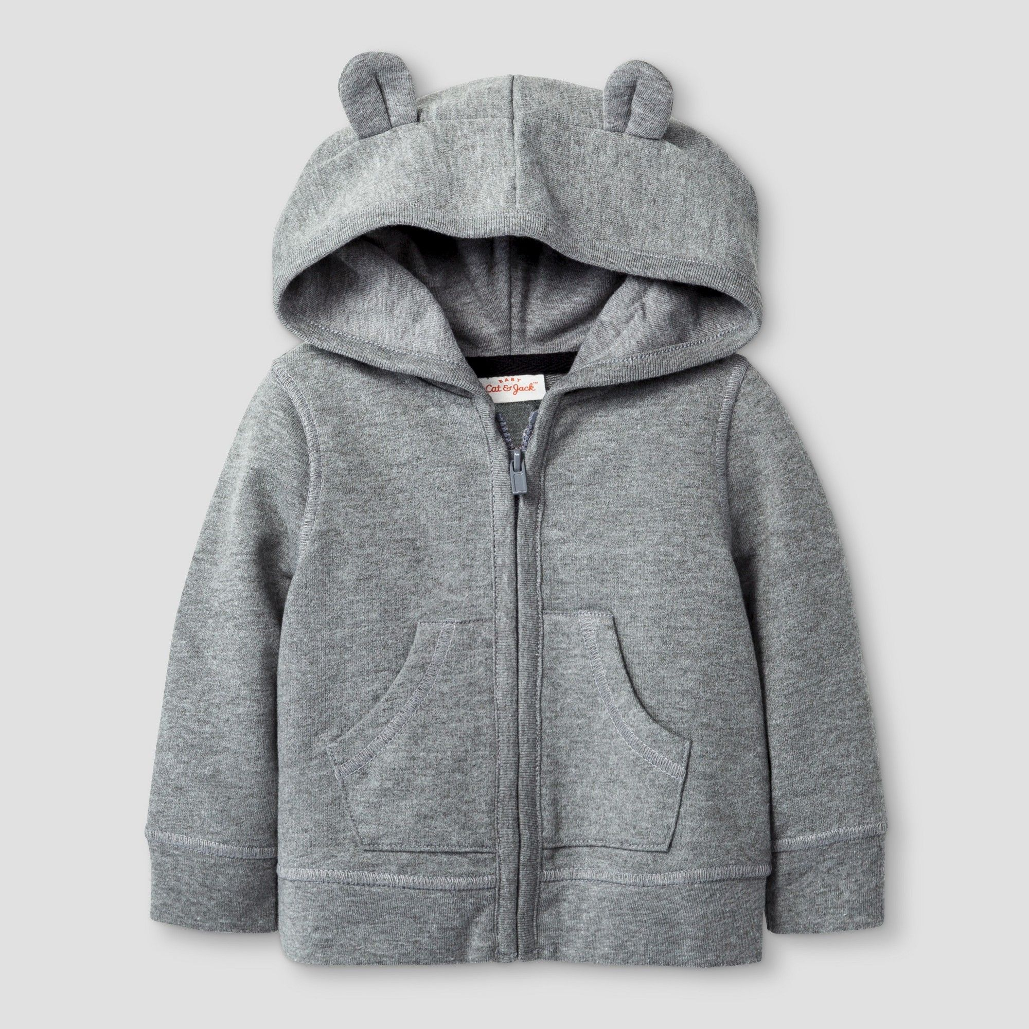 21153a4a Baby Bear Hoodie Cat & Jack - Radiant Gray 0-3M, Infant Girl's, Size ...