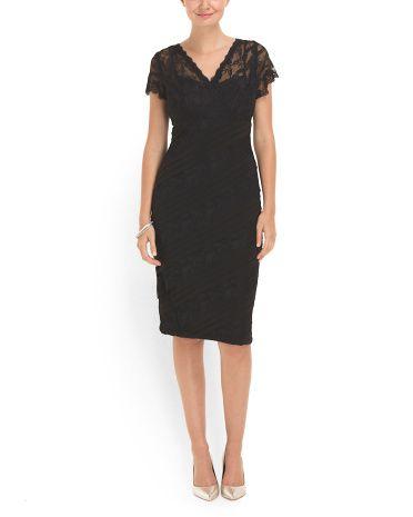 f9679edda695e6 anne klein dresses tj maxx Short Sleeve Lace Dress - Dresses - T.J.Maxx