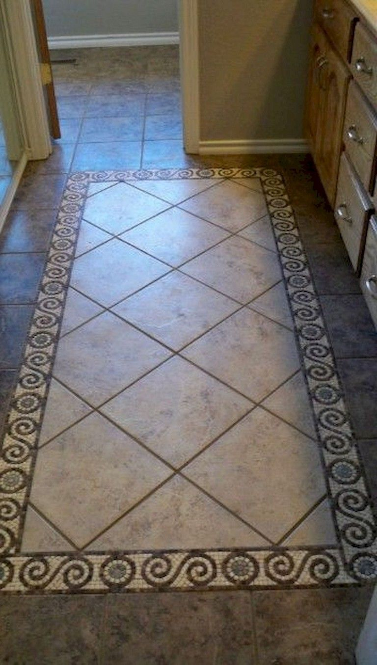 21 Optimum Tile Rug Inlay Bathroom Decor Ideas Floor Tile Design Tile Rug Entryway Flooring