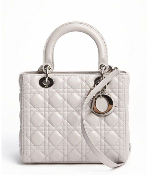 1ce01e0929 Christian Dior grey cannage quilted lambskin 'Lady Dior' medium convertible  tote bag | #Chic Only #Glamour Always