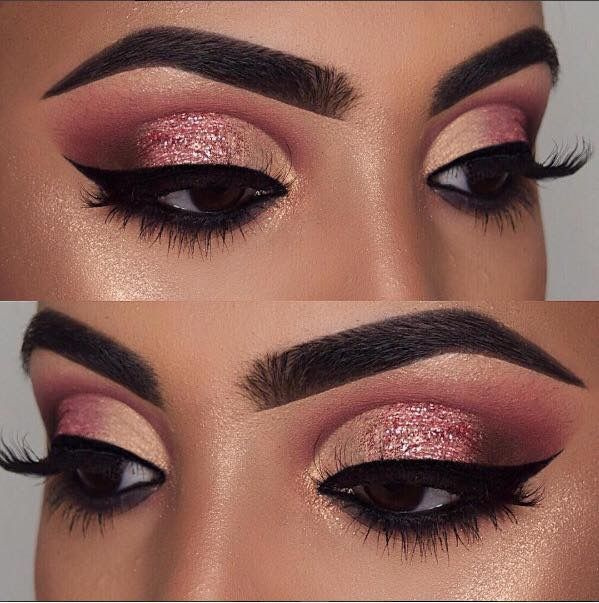 Pin By Aja S On Lit For The Heavens Gold Eye Makeup Rose Gold Eye Makeup Dark Skin Makeup