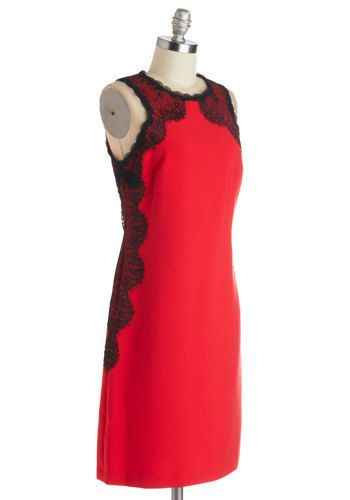 Scarlet Enchantress Dress, good holiday part dress #ModCloth