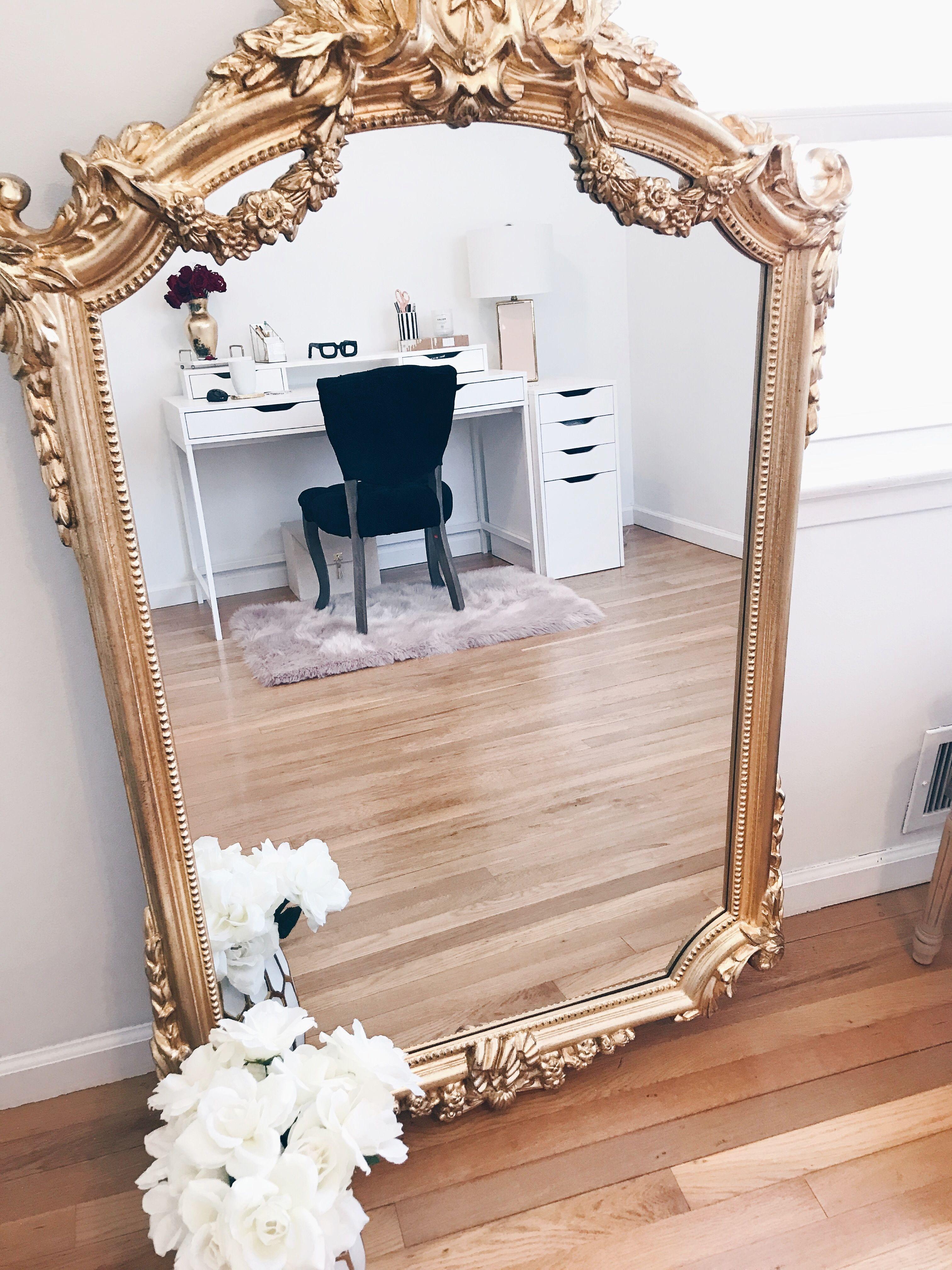 Large Gold Vintage Mirror Mirrored Bedroom Furniture Vintage Mirror Wall Gold Mirror Bedroom