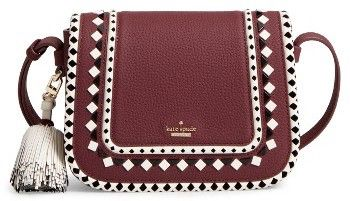 Kate Spade New York Crown Street - Jasper Leather Saddle Bag - Red