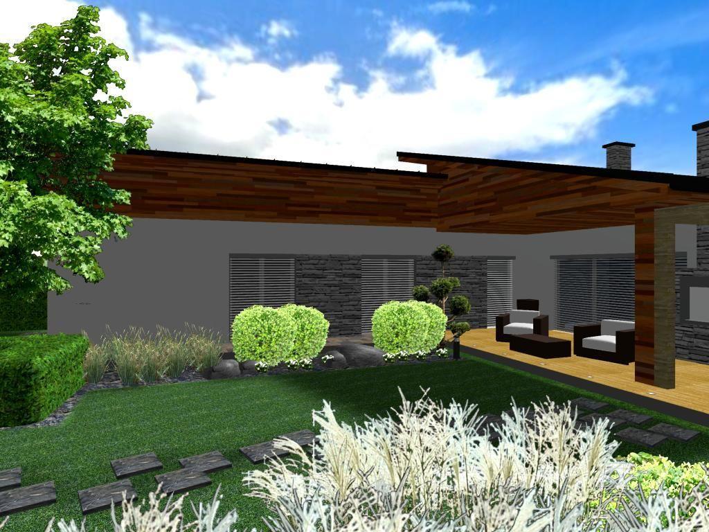 Modern Z Hrada S V Sadbami Vizualizace Zahrady Pinterest # Recherche Nilo A Vendre