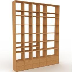 Photo of Holzregal Eiche – Skandinavisches Regal aus Holz: Schubladen in Eiche – 231 x 291 x 35 cm, Personali