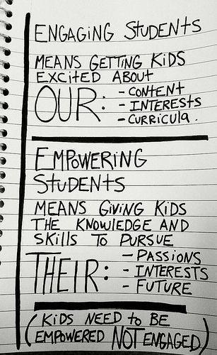 Empowering Student Engagement V Student Empowerment With Images Student Engagement Empowerment Teacher Blogs
