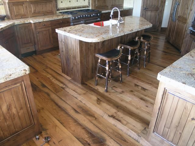 Reclaimed Hardwood Flooring May Be Usable In Our Kitchen