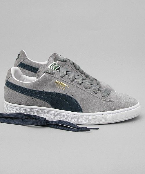 185c5a190f91 Puma Suede Classic grey navy  puma  sneakers  shoes  streetwear  men  www.neverending-shop.de