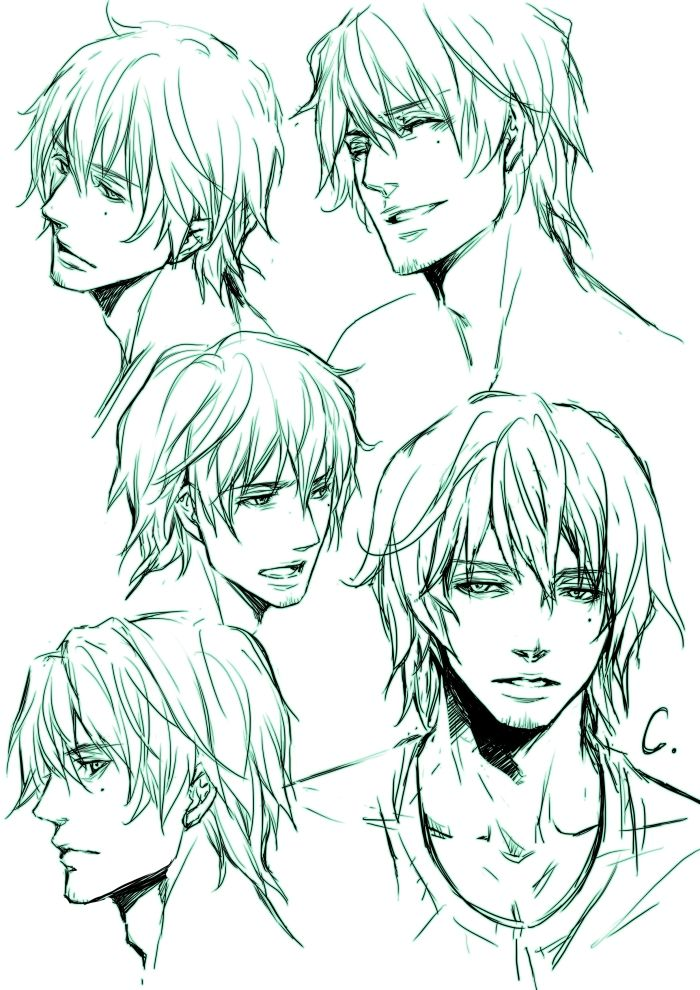 character in SWB 2 by SHIBUE Manga hair, Guy drawing