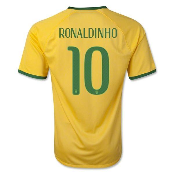 Maillot Foot de Coupe du Monde Brésil RONALDINHO 10 Domici2013-14 ... 386d97976865f