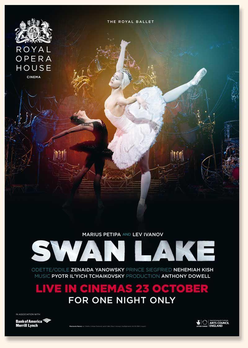 Roh Poster Ballet Posters Swan Lake Royal Ballet