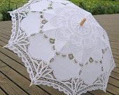 Battenburg Lace Umbrella Wedding Bridal lace Parasol Vintage Umbrella for Bridal Bridesmaid,Wedding Gift