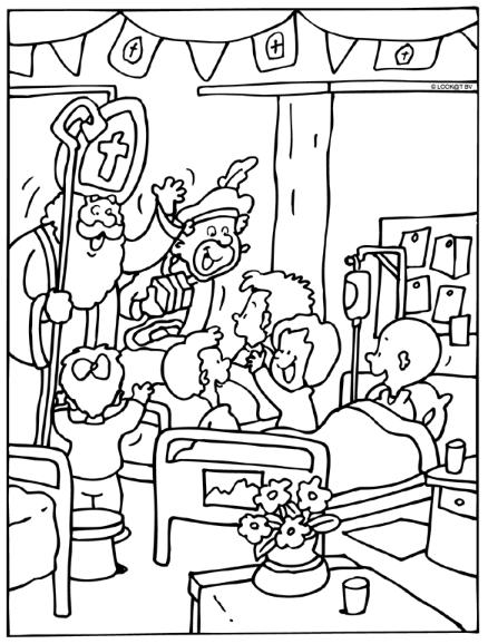 Kleurplaten Van Ziekenhuis.Ziekenhuis Sinterklaas Kleurplaten Coloring Pages Peanuts