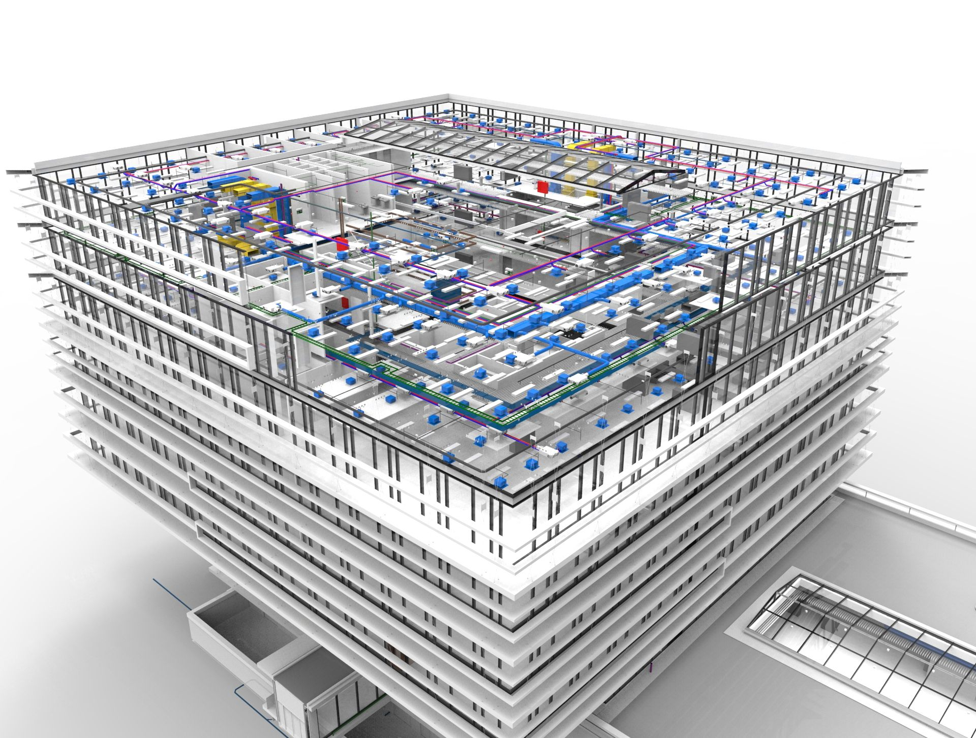 Steel #Construction Detailing offers #MEP Shop Drawing for