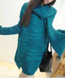 $10.42 Stylish Scoop Neck Solid Color Long Sleeves Sweater With Neckerchief For Women