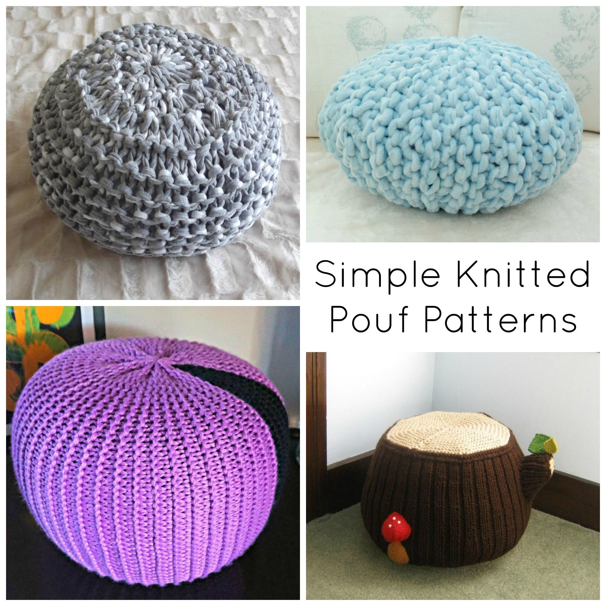 Kick Back in Cozy Style With Simple Knitted Pouf Patterns ...