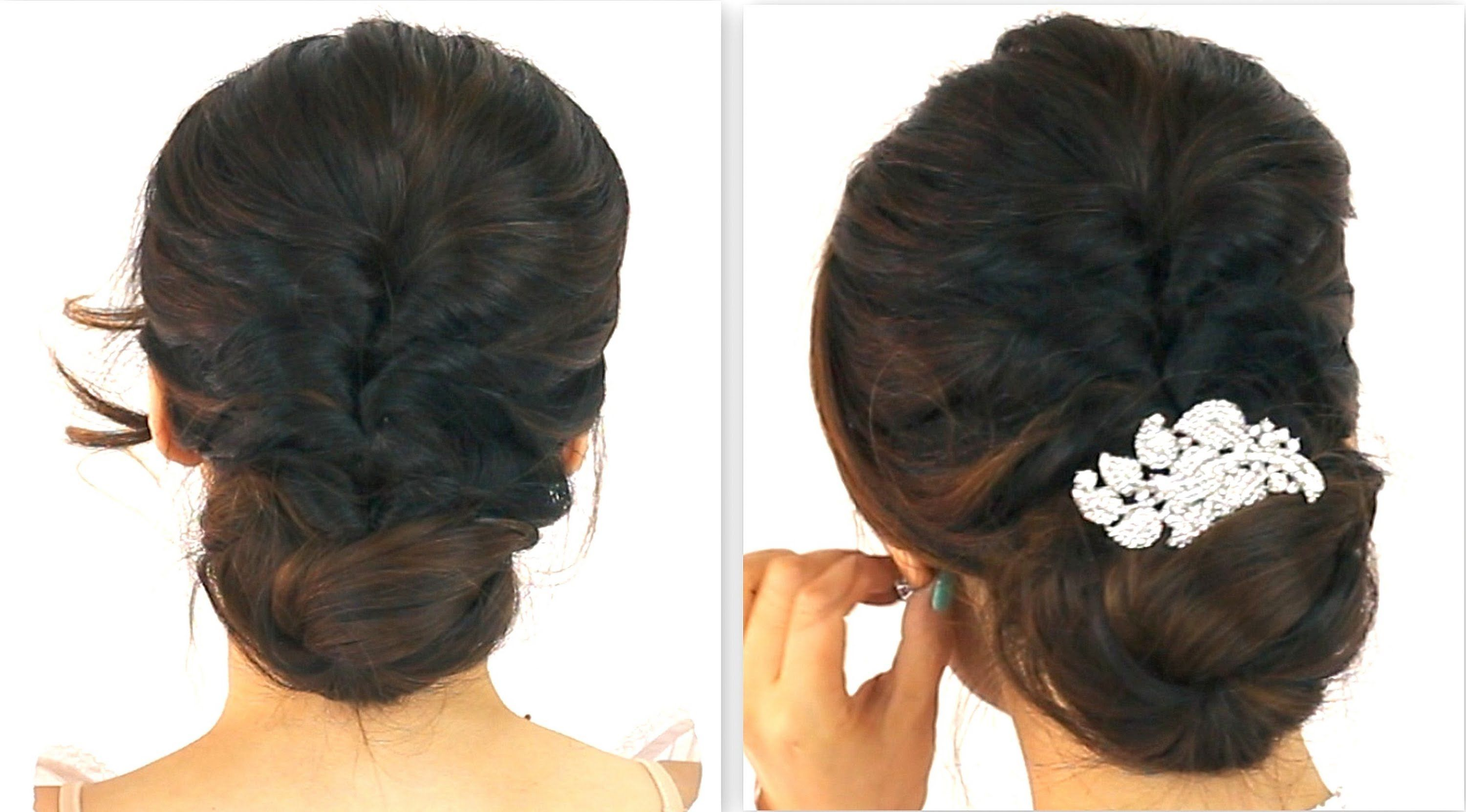 Min cute easy everyday party updo ponytail braid bun hairstyles