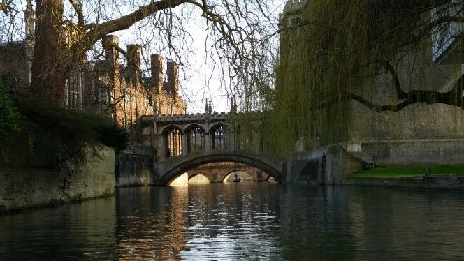 Cambridge, St John' s College, Bridge of Sighs, on a beautiful day