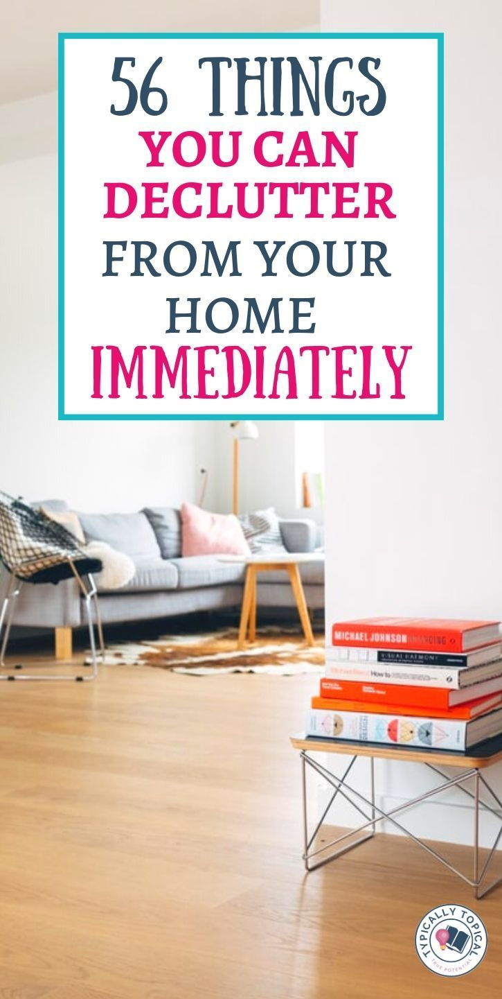 Looking to declutter your home this season? Here are 56 things you can declutter from your home immediately. Just in time for spring cleaning, here is a checklist of things to donate, recycle or throw out that no-one will miss. Featuring home organization tips, delcuttering ideas for the home and a simple cleaning checklist. #decluttering #organization #springcleaning #cleaning #cleanhome