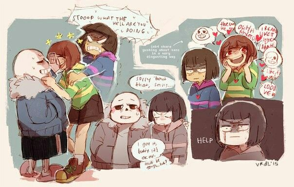 The player (Chara) is very fangirl