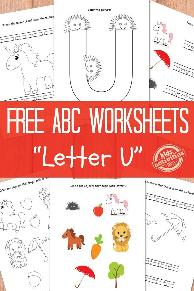 Letter U Worksheets Free Kids Printable