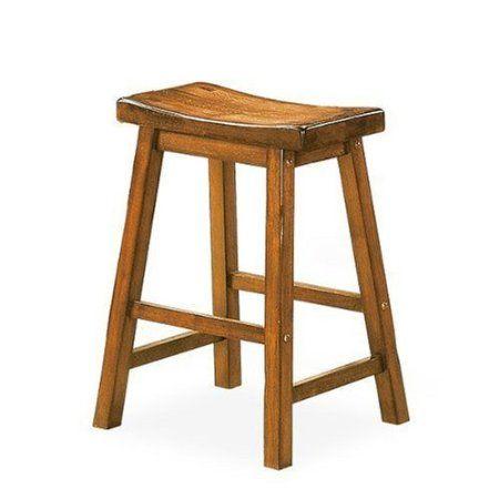Amazon Com Saddleback 29 Seat Height Wood Bar Stool In Distressed Oak Finish Set Of 2 Home Kitchen Bar Stools Wood Bars Wood Bar Stools