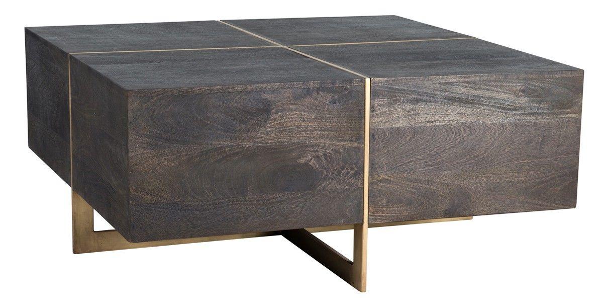 Desmond square coffee table espresso coffee tables