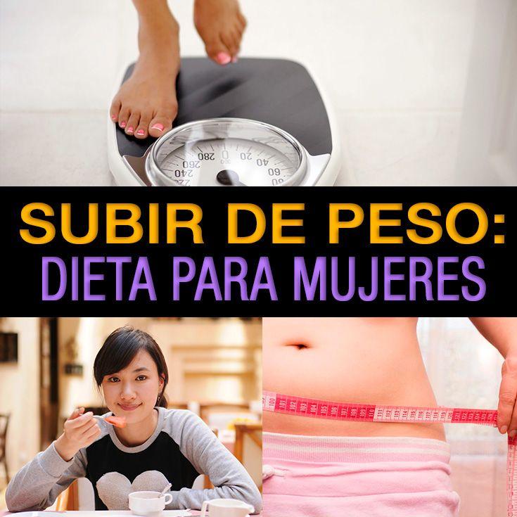 Dietas para subir de peso mujeres