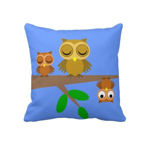 Cute Pillows For Your Room : Colorful cute and funny owls pillows for baby or child s room #decor #Nursery Adorable baby ...