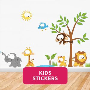uniquely designed fun and personalised removable wall stickers for