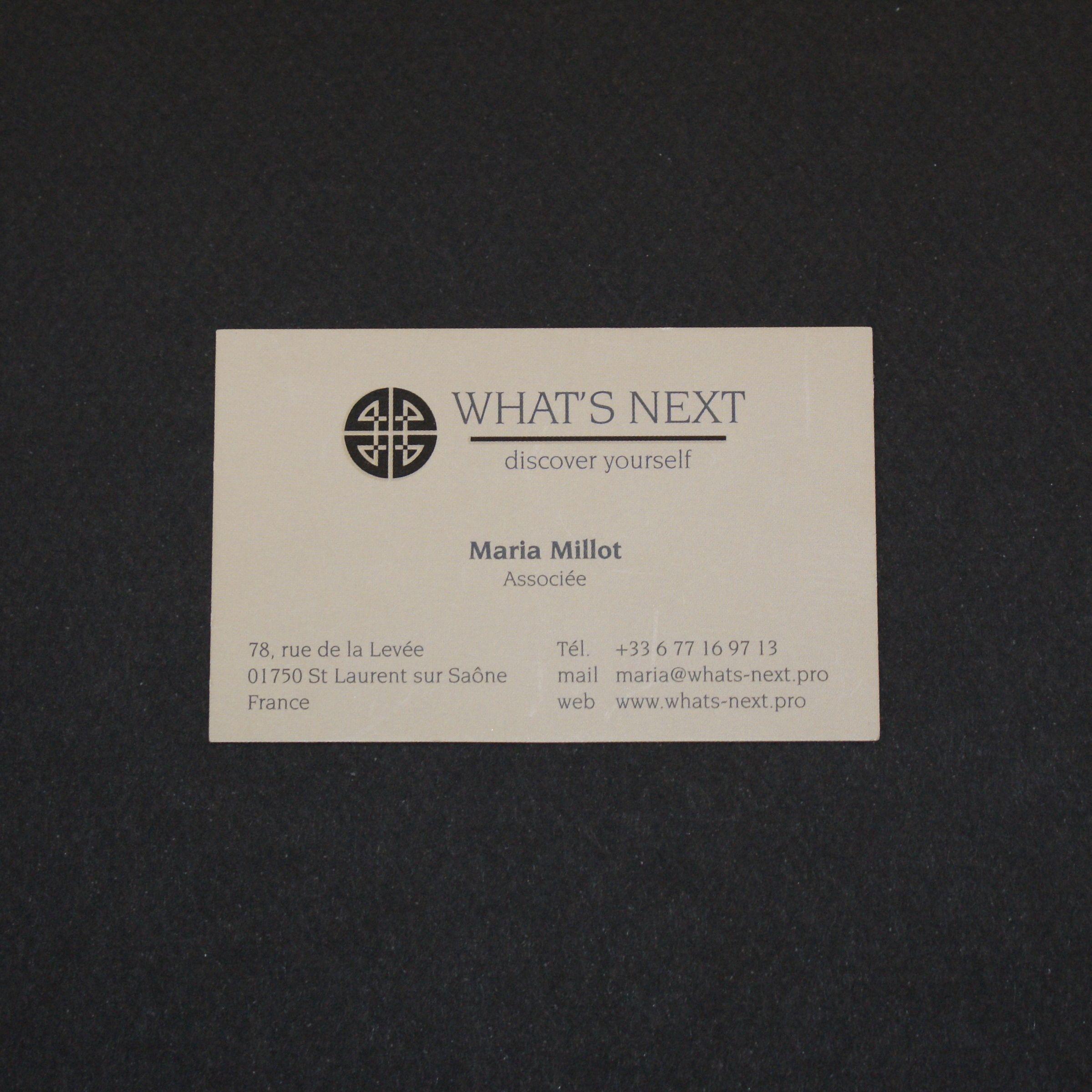 Carte De Visite Format Classique Sur Un Papier 300g Effet Mat Avec Lajout Dun Vernis Selectif Brillant