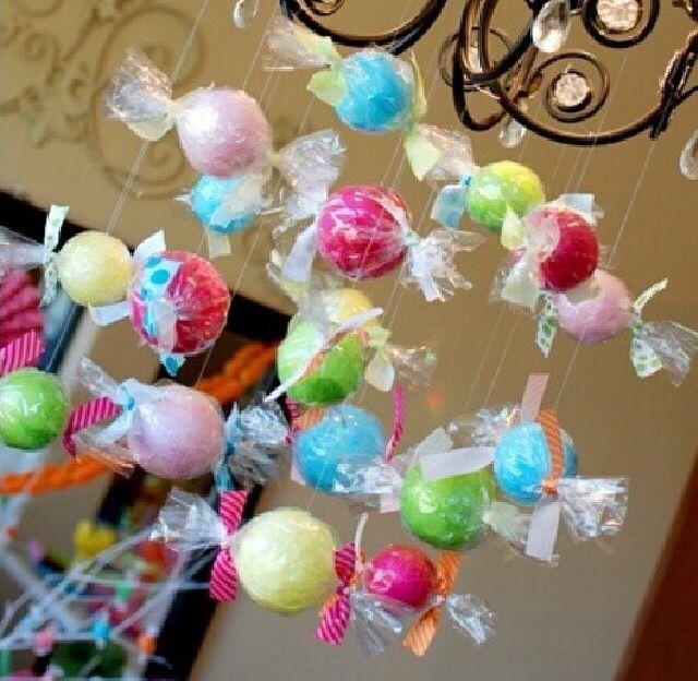 عبارة عن بالونات داخل التغليف ديكور لطيف لحفلات الأطفال Party Baby Mobile Cake