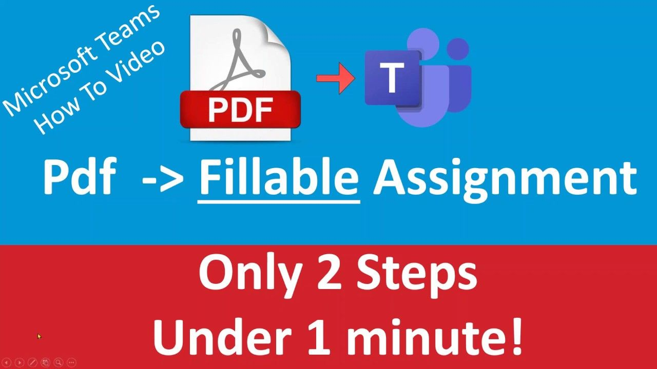 Microsoft Teams Education How To Turn PDF into Fillable