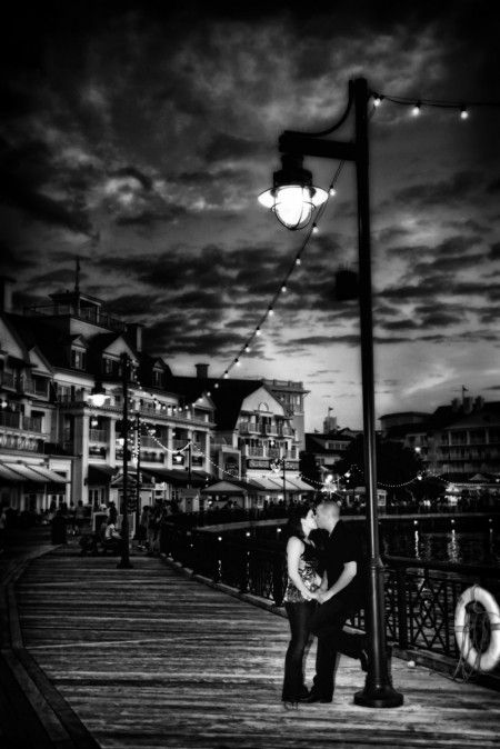 Engagement photos at our first date location? Disney Boardwalk :)