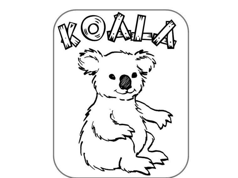 90 Coloring Page Of A Koala Bear